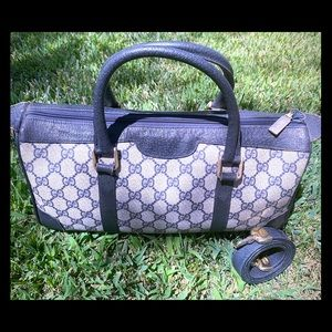 Vintage Gucci GG Monogram Boston Bag with Strap